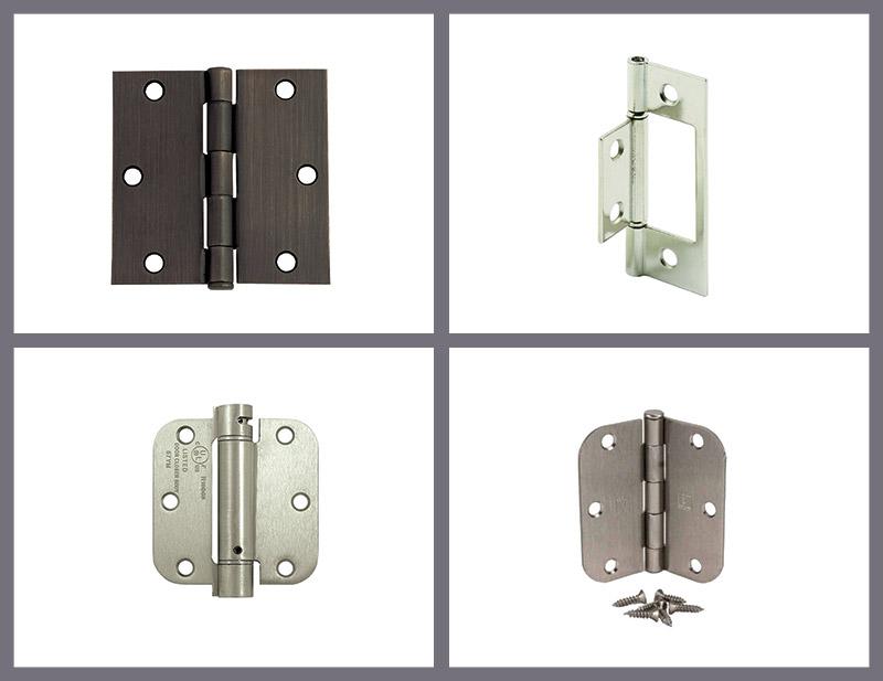 2 PC 4 X 4in Straight Square Corner 5//8 Round Radius Exterior Door Hinge Satin Nickel